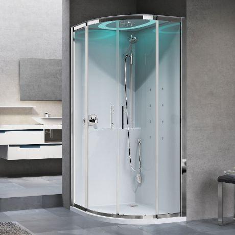 cabina doccia multifunzione box: apertura 2 ante scorrevoli e 2 fisse ...